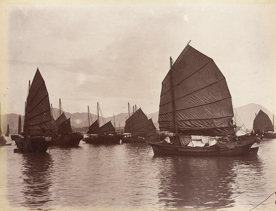 Guangzhou, Chinese Boats by Lai Afong, c%D0%B0 1880