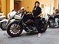 "Guliafshan Riding ""Harley Davidson"".jpg"