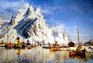 Gunnar Berg (painter) - Image: Gunnar Berg Svolvær