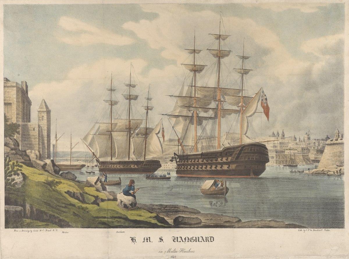hms vanguard  1835