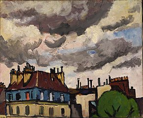 Rooftops and Clouds, Paris