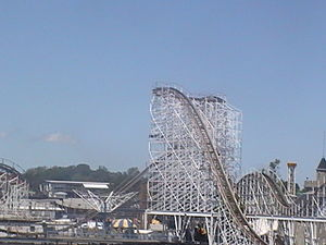Hoosier Hurricane - The lift hill view from the bridge
