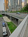HK Central 金鐘道 Queensway 香港中銀大廈 Bank of China Tower carpark entrance 衛星接收碟 n Cotton Tree Drive bridge view Lippo Centre Oct-2013.JPG
