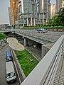 HK Central 金鐘道 Queensway 香港中銀大廈 Bank of China Tower carpark entrance 衛星接收碟 n Cotton Tree Drive bridge view Lippo Centre Oct-2013.JPG