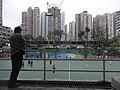 HK Mongkok 旺角 evening 麥花臣球場 Macpherson Playground visitor view 染布房街 Yim Po Fong Street May-2011.JPG