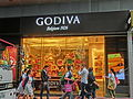 HK Wan Chai 灣仔 Tai Yuen Street 太原街 GODIVA Belgium 1926 shop MLC Tower 248 Queen's Road East visitors Nov-2013.JPG