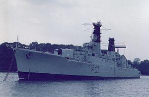 HMS Salisbury (F32) - Image: HMS Salisbury F32