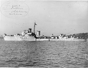 HMS Southdown (L25) - HMS South Down FL19190
