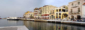 Agios Nikolaos, Crete - The promenade of the city.