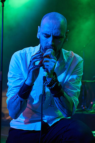 Aaron Stainthorpe - Aaron Stainthorpe during a My Dying Bride performance at Hammer of Doom 2015 festival in Würzburg, Germany.
