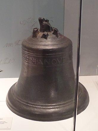 Hanover (ship) - Image: Hanover, Falmouth Packet, ship's bell