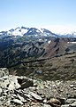 Harmony Lakes from the top of Pika's Traverse (14891410423).jpg
