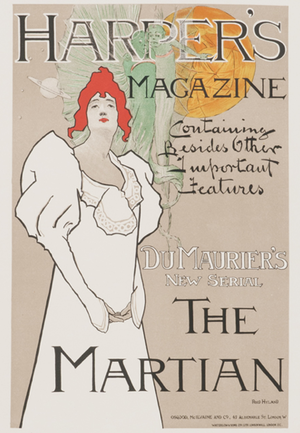 The Martian (du Maurier novel) - Poster for the serialized printing of The Martian in Harper's Magazine (1898)