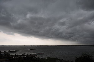 Climate of Asia - Monsoon clouds in Calcutta