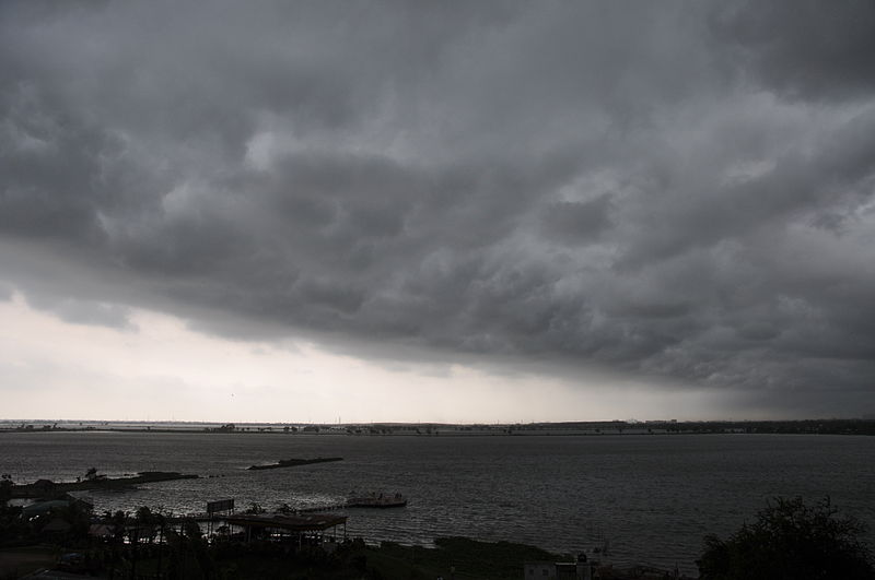 Heavy clouds over Salt Lake, Calcutta.JPG