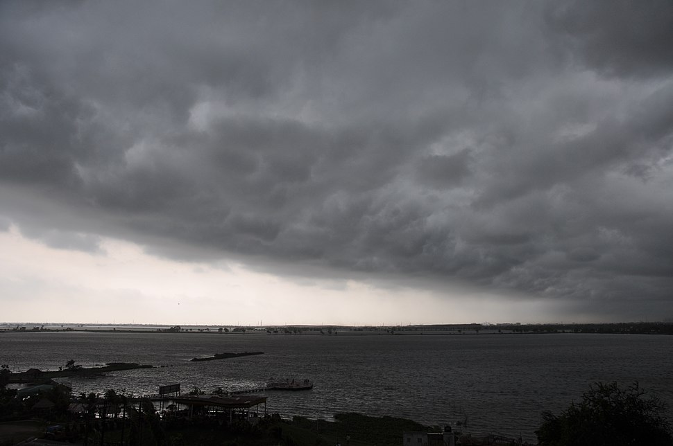 Heavy clouds over Salt Lake, Calcutta