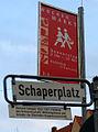Heinrich Schaper 1852-1927 Förderer des Genossenschaftlichen Wohnungsbaues Gründer der Kleefelder Baugenossenschaft Wochenmarkt Schaperplatz Hannover Kleefeld.jpg