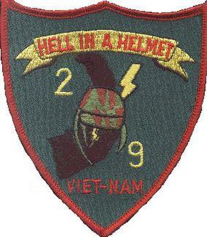 2nd Battalion, 9th Marines - 2/9 insignia from the Vietnam-era.