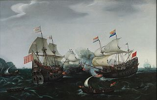 Encounter between Amsterdam and English ships on 20 April 1605