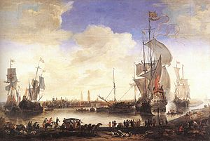 Hendrik van Minderhout - View of the Harbour of Bruges