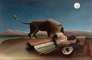 ROUSSEAU, Henri Sleeping Gypsy 1897