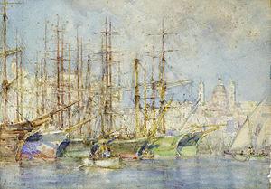 Henry Scott Tuke - Genoese shipping.jpg
