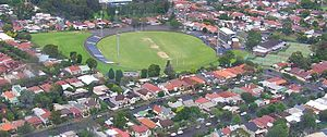 Henson Park - Aerial view from the north east