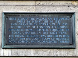 Here stood the palace of bridewell