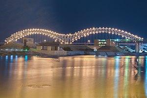 Hernando de Soto Bridge - Image: Hernando De Soto Bridge at Night