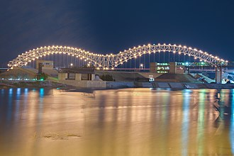 Hernando de Soto Bridge - Image: Hernando De Soto Bridge at Night