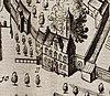 het doelhuis in schoonhoven kaart blaeu 1649
