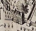 Het Doelhuis in Schoonhoven kaart Blaeu 1649.jpg
