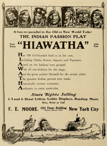 hiawatha film  advertisement for hiawatha 1913