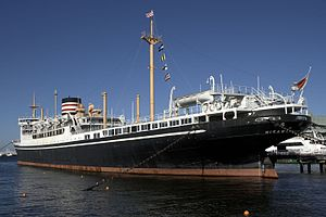 Queen of the Pacific - NYK Line's Hikawa Maru preserved at Naka-ku, Yokohama