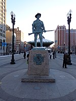 Hiker at Kennedy Plaza in Providence RI.JPG
