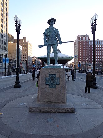 Kennedy Plaza - The Hiker by Theo Alice Ruggles Kitson