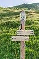 Hiking sign at Chalet de l'Aiguille.jpg