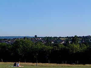 Brockley - Blythe Hill from Hilly Fields