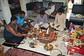 Hindu puja at home, Ahmedabad 07.JPG