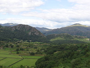 Furness - View from the slopes of Dow Crag in the Coniston Fells