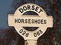 Holt, detail of Horseshoes finger-post - geograph.org.uk - 1741171.jpg
