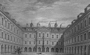 The quadrangle designed by Sir William Bruce, drawn in the 1850s [ 11