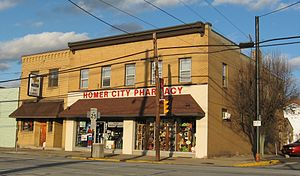 Homer City, Pennsylvania - Businesses on Main Street