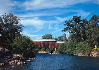 Butte Creek (Butte County, California) - Honey Run Covered Bridge across Butte Creek