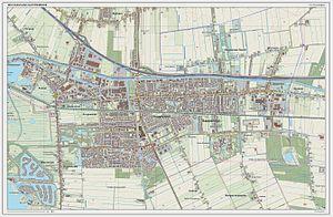 Hoogezand-Sappemeer - Dutch Topographic map of Hoogezand-Sappemeer (town), June 2014