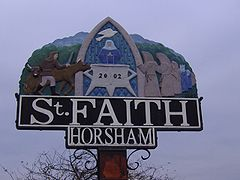 Horsham St Faiths Village Sign 2nd November 2007 (1).JPG