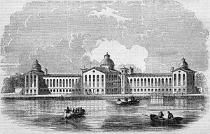Randalls and Wards Islands - The New York House of Refuge youth detention center in 1855.