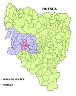 Huesca en la Hoya de Huesca
