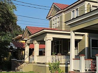 Hampton Park Terrace - Houses along Huger St. produce a consistent streetscape.