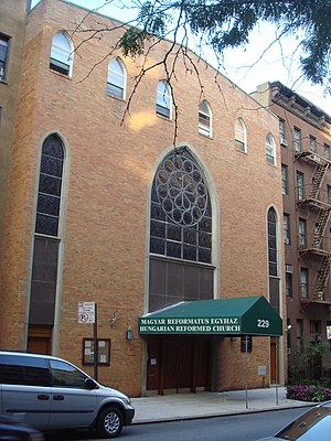 Reformed Church in Hungary - Hungarian Reformed Church building in Manhattan, New York.